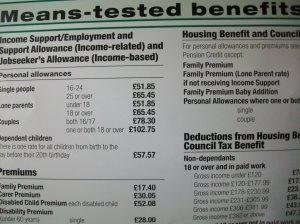 Housing benefit poster