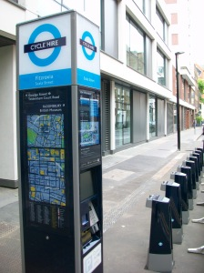 Cycle hire docking stations