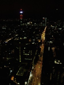 Fitzrovia at night. Picture taken from the top of Centrepoint at st Giles' Circus