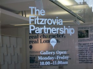 Fitzrovia Partnership,  glass showroom door