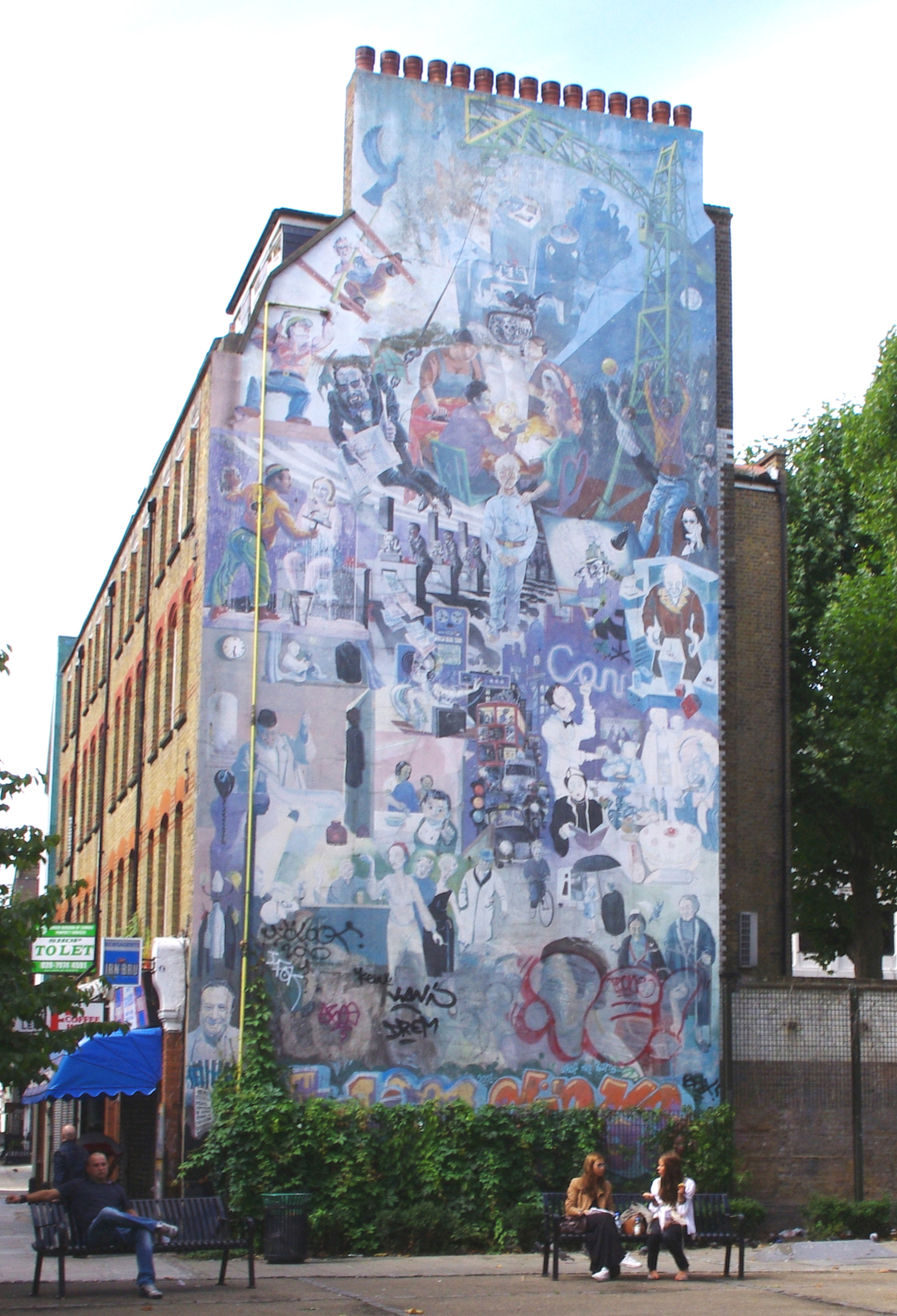 Mural could return to its former grace fitzrovia news for Construction mural