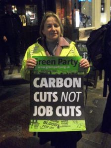 Clear message form Natalie Bennett of nearby Somers Town