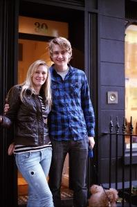 Ann-Linn and Erling standing in Tottenham Street