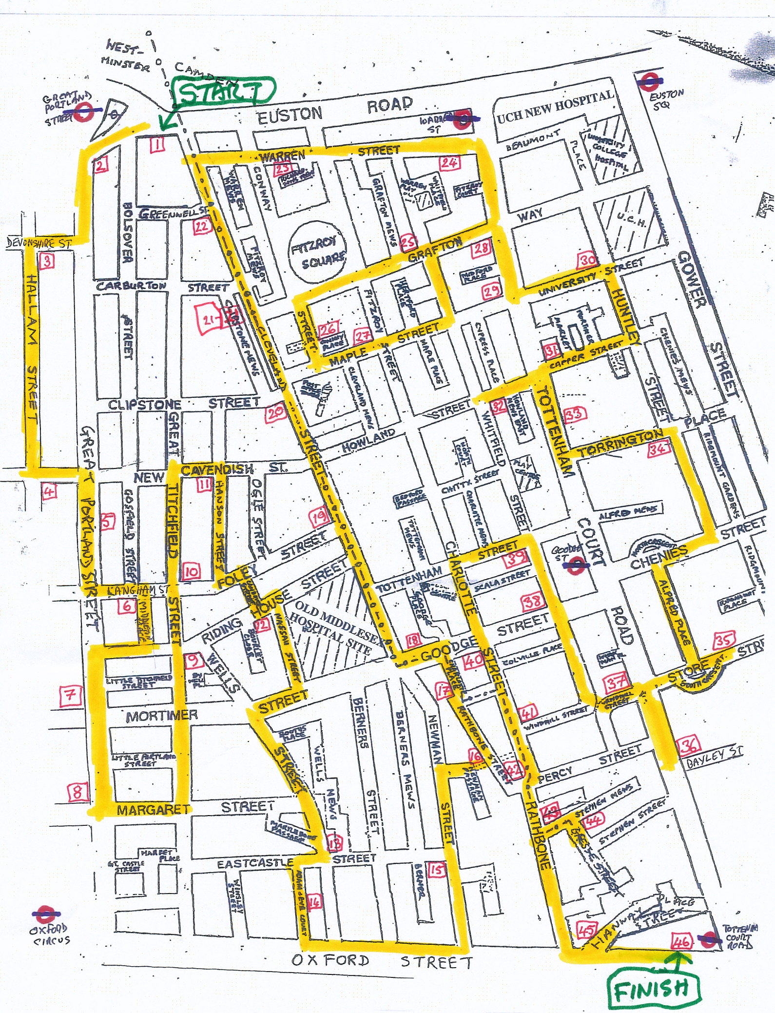 Join the Fitzrovia Crawl from 28 March to 2 April