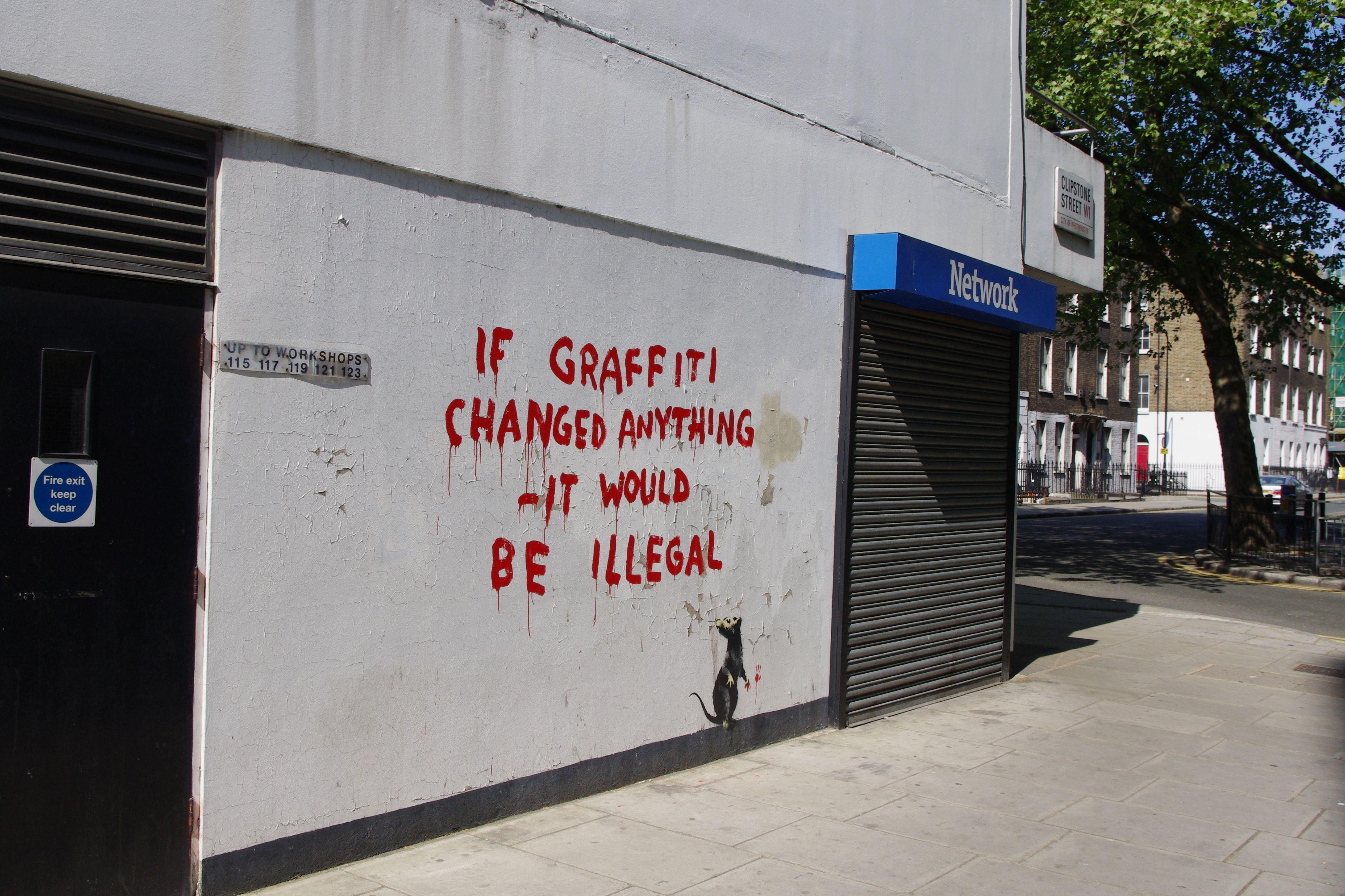 Banksy's rat daubs graffiti in Fitzrovia – Fitzrovia News
