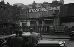 The scene of the murder outside Jay's Jewellers on the corner of Tottenham Street and Charlotte Street.