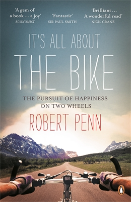 cover of book showing view from a bicycle seat.