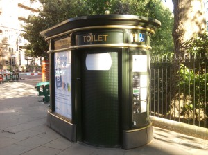 Automatic toilet next to Russell Square