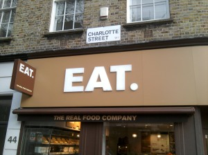 Shopfront sign says Eat.