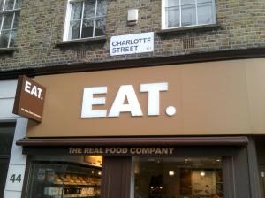 Shopfront sign says Eat.