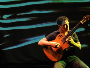 Man playing Spanish guitar