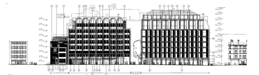 Drawing of proposed buildings.