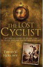 Book cover showing 19 century picture of cyclist.