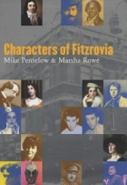 Cover of books showing pictures of people who have lived in Fitzrovia including Charles Dickens.