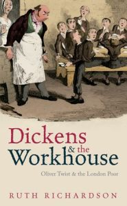 Cover of book with scene where Oliver Twist asks for more.