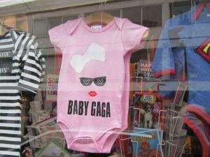 Pink baby romper suit.