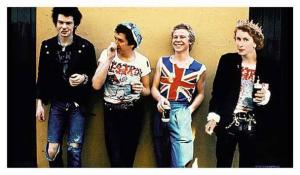 Modified picture of the Sex Pistols.