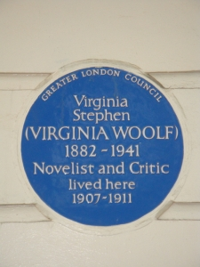 Blue plaque.