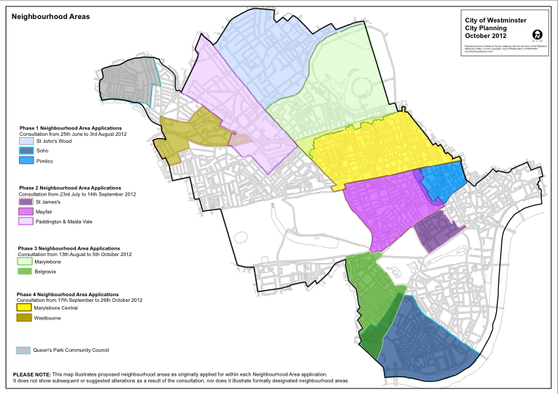 Westminster Parking Zones Map Fitzrovia neighbourhood area proposal filed with Camden and  Westminster Parking Zones Map