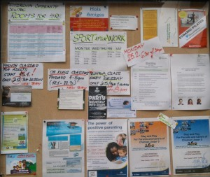Community notice board.