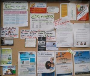 Community notice board.