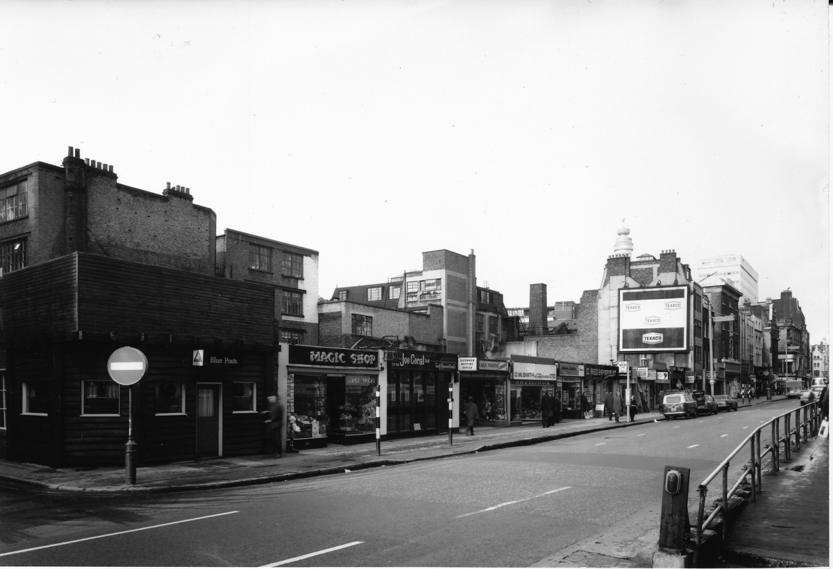Tottenham Court Road before redevelopment in the 1970s
