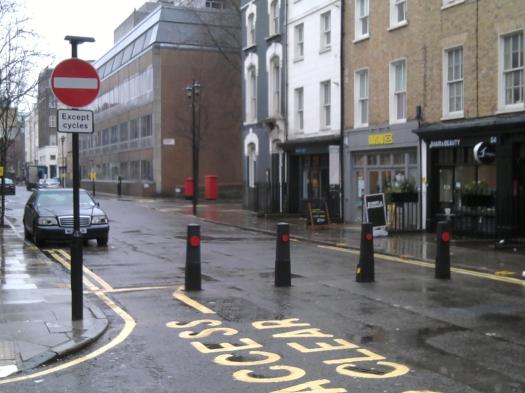 Street and bollards