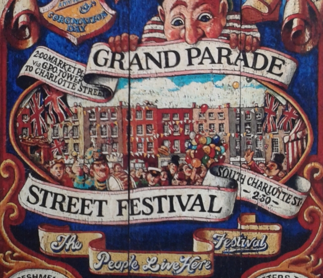 Part of the original Fitzrovia Festival poster from 1973.