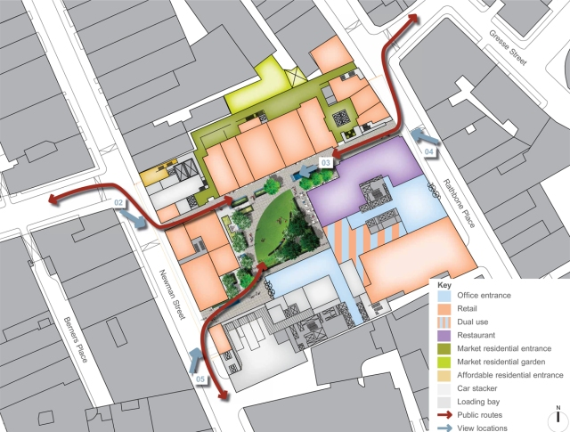 Rathbone Place redevelopment plans submitted to Westminster Council