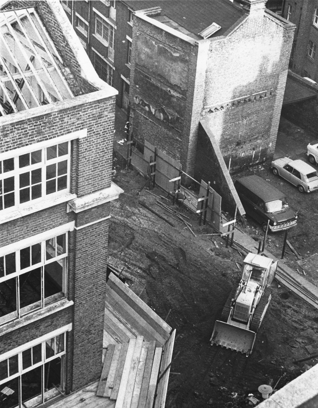 View of Gresse Street and Tudor Place taken from above.