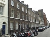 Row of Georgian houses.