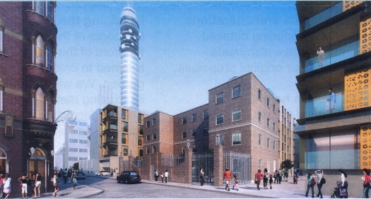 Illustration of housing development.