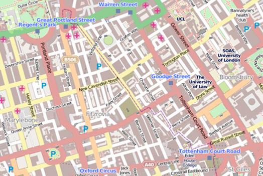 Fitzrovia map.