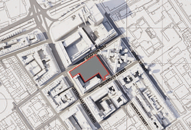 Map of site.