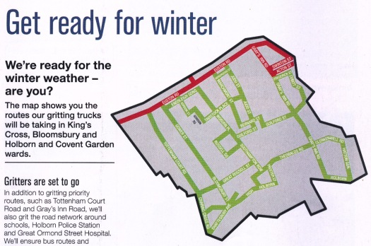 Map of gritting route.