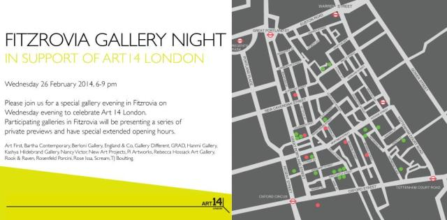 Fitzrovia gallery night invitation.