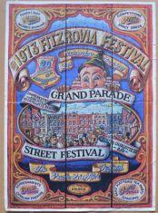Poster advertising Fitzrovia Festival 1973.