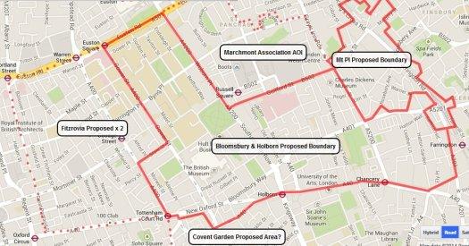 Map showing neighbourhood area boundaries.