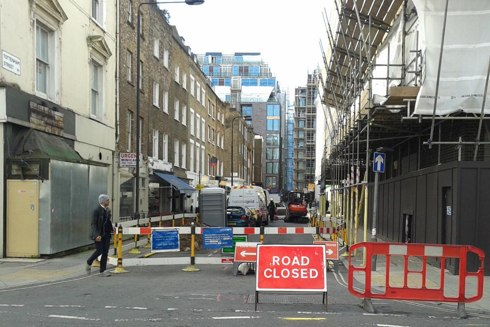 Tottenham Street closed for utility works - Fitzrovia News