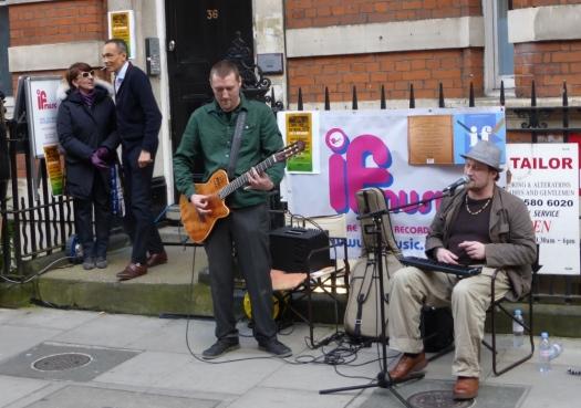 Musicians on the street.