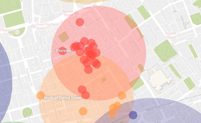 Map of properties.