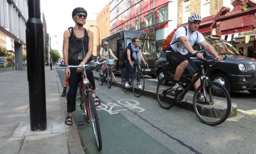 Cyclists on cycle track.