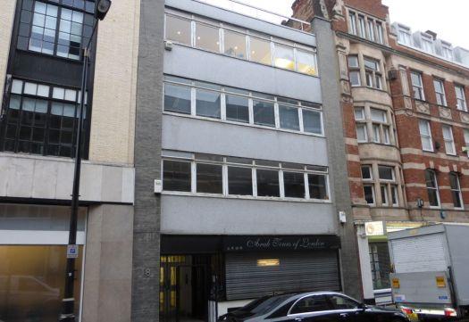 Front of building in Wells Street.