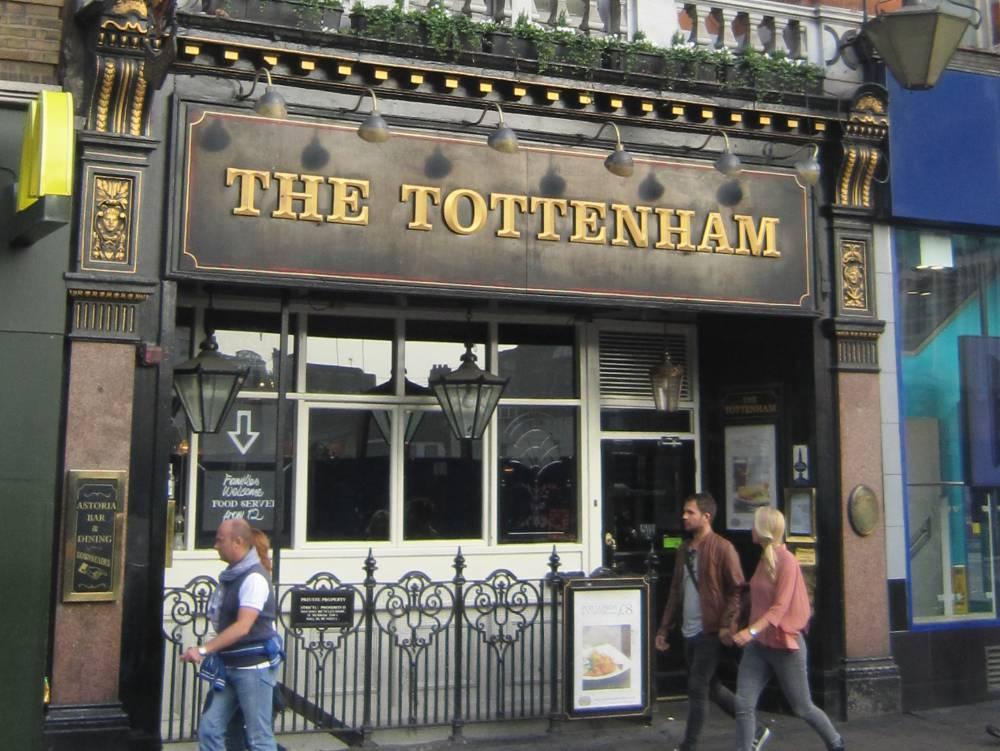 Front of The Tottenham pub