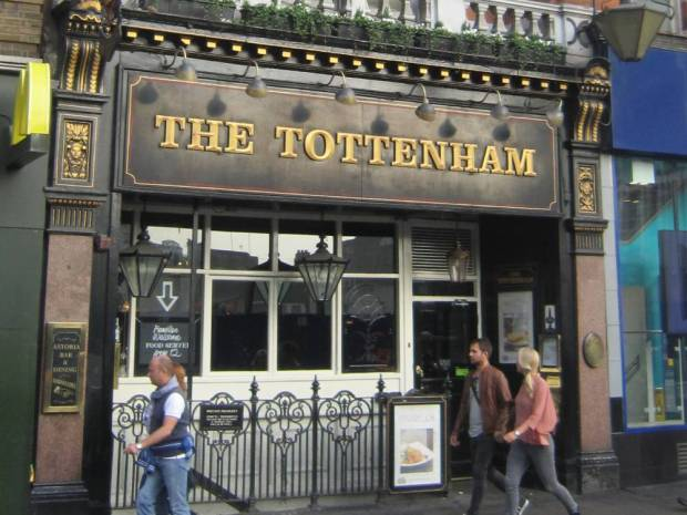 Front of The Tottenham pub