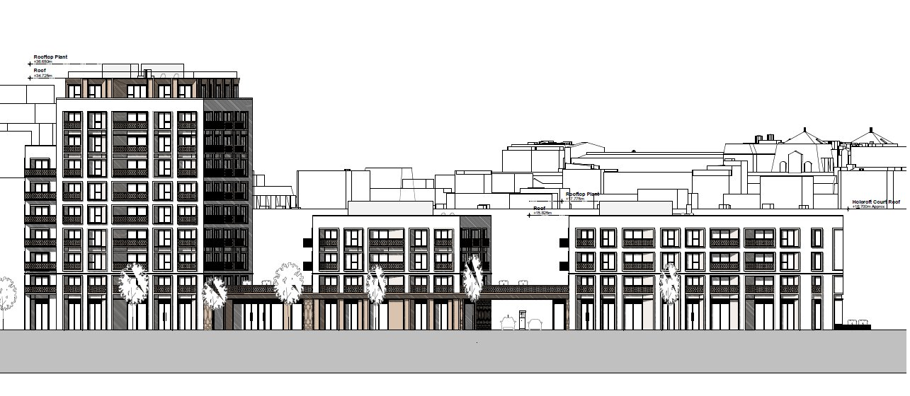Commercial Building Elevation Drawing : A 'crassly over developed scheme planned for cleveland