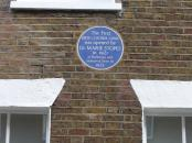 Marie Stopes blue plaque.