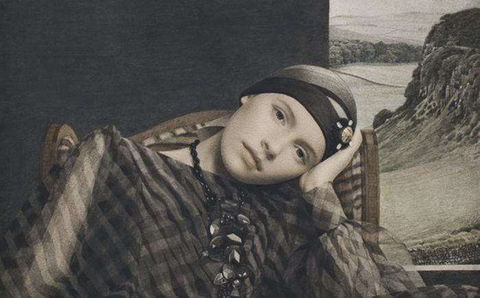 Portrait of young woman.