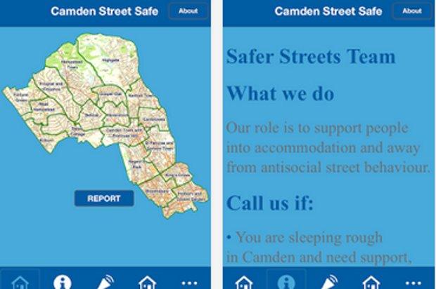 Screenshots of mobile app.