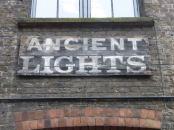 Ancient lights sign.